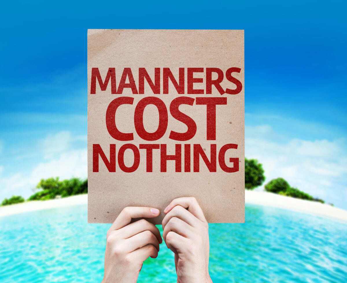 Manners sign in the tropics